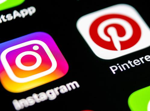 InstagramとPinterestのアイコン